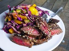 Spicy Skirt Steak with Asian Slaw | 27 Low-Carb Dinners That Are Great For Spring
