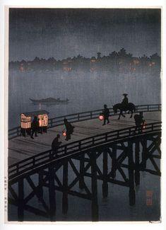 Hiroshima Koho Night View of Ohashi Bridge