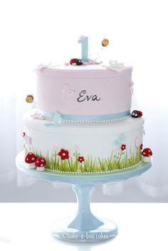Garden party cake by Bake-a-boo Cakes NZ, via Flickr