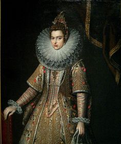 "Infanta Isabella Clara Eugenia of Spain (August 12, 1566 in Segovia - December 1, 1633) was Infanta of Spain, Archduchess of Austria and the joint sovereign of the Seventeen Provinces. In some sources, she is referred to as ""Clara Isabella Eugenia"". She was married to Albert VII, Archduke of Austria. by Frans Pourbous the Younger"