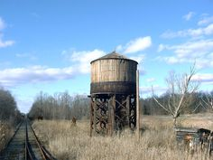 old railroad water tower - East Rockhill
