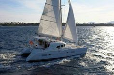 Lagoon 380, a sailing catamaran, available for bareboat and skippered charters throughout Greece. With 4+2 cabins and 2 wc it is perfect for groups of 10 guests. See more information here: http://www.istion.com/fleet/catamarans/lagoon-380