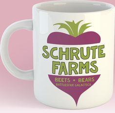 Schrute Farms 11oz coffee mug The Office by TheFoxyHipster on Etsy