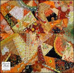 Fall Tone Crazy Quilt By:Creative Daily