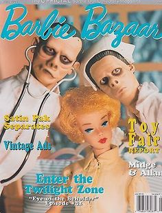 Barbie Bazaar Magazine June 2003 - Midge & Allan, Inside The Twilight Zone Play Barbie, Barbie And Ken, Barbie Dolls, Sideshow Toys, Sideshow Collectibles, Boyfriend Names, Blockbuster Film, Alien Vs Predator, Classic Tv