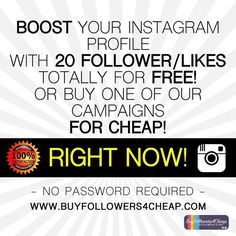 Repost a new photo taken by buyfollowers4cheap8! Need INSTAGRAM FOLLOWERS/LIKES? Testing one of our campaign totally free! | Contact me or visit http://ift.tt/1WaG3Gf #follow4follow #follow #foodporn #graphic #selfie #selfies #selfiesunday #london #dinner #shopping #shoutout #shorts #brazil #tokyo #hongkong #picoftheday #pic #pink #picture #f4f #magazine #tshirt #car #composition #healthy #food #blonde#instagramsearch #searchinstagram http://ift.tt/1WaG2lL More post like this…