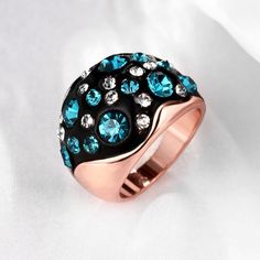 Show details for Fashion Rings Women Classic Oval Rose Gold Plated Copper Crystal Party Face Wrap, Rose Quartz Bracelet, Eye Makeup Remover, Gold Plated Rings, Rose Gold Plates, Fashion Rings, Swarovski Crystals, Pink Ladies, Plating