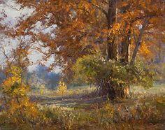 Cypress Autumn by Mark Haworth Oil ~ 16 x 20: