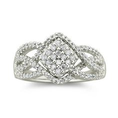 Diamond 3/8 CT. T.W. Sterling Silver Ring  found at @JCPenney