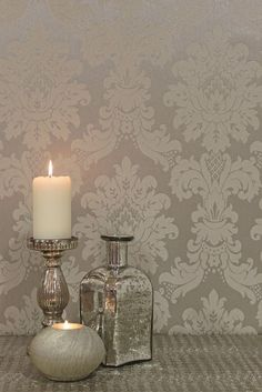 Messina Damask Silver by Arthouse : Wallpaper Direct - http://centophobe.com/messina-damask-silver-by-arthouse-wallpaper-direct/