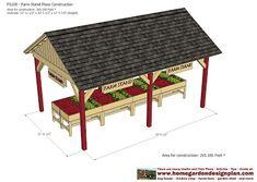 home garden plans: FS100 - Farm Stand Plans Construction - Farm Stand Design - How To Build A Farm Stand
