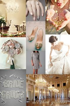 glitter, glam and sparkle wedding inspiration board! its perfect for you!