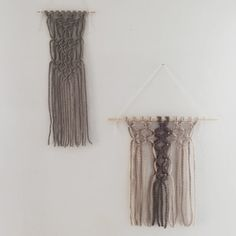 poppy / macrame wall hanging by TheLittleAvocado on Etsy