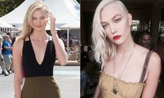 <b>Karlie Kloss</B>  The supermodel took her look from girl-next-door to glam by taking her hair color quite a few shades lighter to platinum blonde. Karlie unveiled her bold new style, created by celebrity hair guru Jen Atkin, at Haute Couture Fashion Week in Paris.   Photos: Getty Images, Instagram/@jenatkinhair