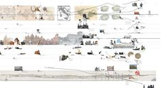 Timeline (Venice Lagoon) - 'Emerging Realities' - Institute for Landscape and Architecture at TU Graz, Austria Timeline Architecture, Cultural Architecture, Concept Architecture, Landscape Architecture, Landscape Design, Architecture Design, Timeline Diagram, Map Diagram, Timeline Design