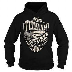 Last Name, Surname Tshirts - Team FITHIAN Lifetime Member Eagle - #gift for her #groomsmen gift. Last Name, Surname Tshirts - Team FITHIAN Lifetime Member Eagle, gift box,gift girl. OBTAIN =>...