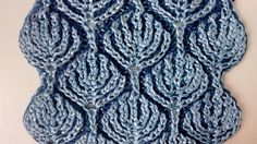 """""""Frozen forest"""" two-color brioche stitch pattern + free embedded chart"""