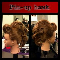 My first contribution to pinterest! My rockabilly faux hawk! Great for your edgy pinup girl!