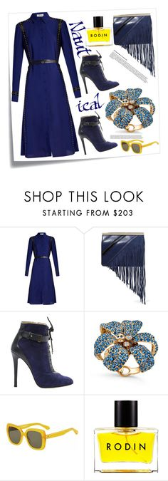 """Nautical"" by felicitysparks ❤ liked on Polyvore featuring Post-It, Altuzarra, Diane Von Furstenberg, Elie Saab, Gucci, Kate Spade and Rodin"
