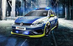 Download imagens 4k, Volkswagen Golf 400R, o carro de polícia, ajuste, 2017 carros, VW, Volkswagen