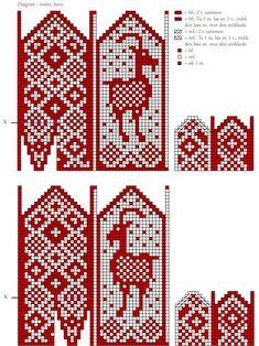 Mittens Pattern, Knit Mittens, Knitting Socks, Knitting Charts, Knitting Patterns, Knitting Projects, Sewing Projects, Fair Isle Chart, Pixel Pattern