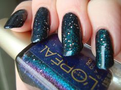 L'Oreal Gold Dust Hidden Gems, with top coat *click for more*