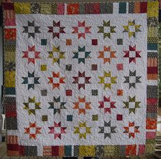 FriendshipStarQuilt.Front by Caribousmom, via Flickr