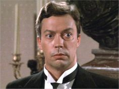 Tim Curry as Wodsworth from one of my favorite movies CLUE! Clue Movie, Movie Tv, Tim Curry Rocky Horror, Rocky Horror Picture Show, Movie Lines, Ex Husbands, Celebs, Celebrities, Movie Characters