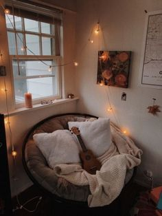 don't quite know how many people i can fit in my room, let alone this chair, but who'd like to join me for a rainy day movie fest? Cute Room Ideas, Cute Room Decor, Comfy Room Ideas, Room Ideas Bedroom, Bedroom Decor, Bedroom Inspo, Aesthetic Room Decor, Cosy Aesthetic, Autumn Aesthetic