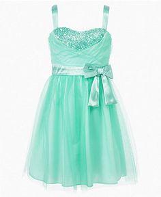 Ruby Rox Girls Dress, Girls Tulle Sequin Dress - Kids Girls 7-16 - Macy's