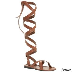 You'll feel like an emperor in these gladiator sandals from Funtasma. These knee-high sandals pay tribute to the Romans with thick bands and wrap style. Color options: Black, brown Style: Sandals Mate
