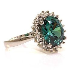 Engagement Alexandrite Ring So beautiful!!! And non-traditional!
