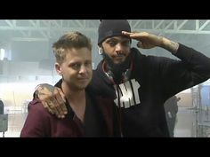 """Ryan Tedder and Gym Class Heroes (his face is like """"WTF"""")"""