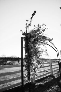 Carte Blanche Design floral arch at The Farm at South Mountain