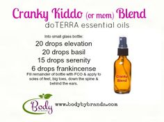 Got cranky kids? Kids got YOU cranky? Try this! doTERRA-- - if you are interested in learning more or buying oils at wholesale pricing email me at kayla_askmewhydoterra@hotmail.com