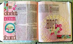 Journaling Bible ~ My HOPE is in Him. Laura McCollough ~ Bible Journaling