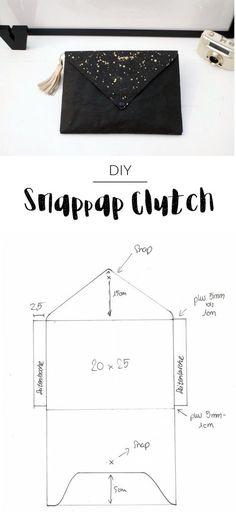 Ob Wickeltasche oder Clutch entscheidest du - in beiden Fällen bist du mit dieser selbstgemachten Tasche aus Snappap stilsicher unterwegs!