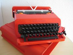 My mum used to have a Valentine typewriter. I used to click, click, click away on it for hours. Sadly, someone borrowed it and it was never seen again!