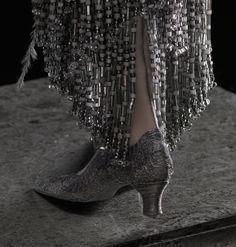 Amaya (Night Rain) doll by Alexandra Koukinova     filligree shoe detail and beading