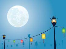 Full moon night mid autumn festival Royalty Free Stock Photo