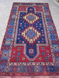 ANTIQUE CAUCASIAN  KAZAK Armenian Rug .Handmade Wool Area Rug Antiker teppiche, Tapis ancien Antique Carpet 145 cm x 270 cm-4'10''x8'10''. €5,500.00, via Etsy.