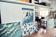 Photographer Chris Craymer captured Jacklin painting in action in his Connecticut studio.