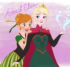 Anna & Elsa Frozen Love, Frozen Fan Art, Frozen Film, Frozen Elsa And Anna, Disney Frozen, Disney Princess Art, Disney Fan Art, Brindle Boxer, Walt Disney Animation Studios