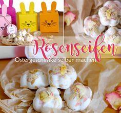 Seife selber machen mit Rosenblättern