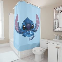 Stitch Complicated But Cute 2 Shower Curtain , My New Room, My Room, Lilo And Stitch Quotes, Lilo And Stitch Toys, Lilo Stitch, Lelo And Stich, Plywood Furniture, Disney Bathroom, Disney Bedrooms