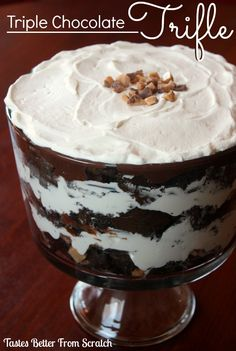 Triple Chocolate Trifle on MyRecipeMagic.com