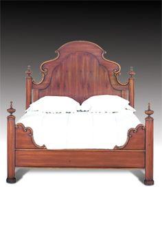Dark Walnut Byron Poster Bed By Drexel Heritage