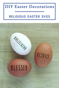 Create your own religious Easter Decor with these farmhouse style SVG files from Everyday Party Magazine. #Farmhouse #FarmhouseEaster #DIY #EasterCraft