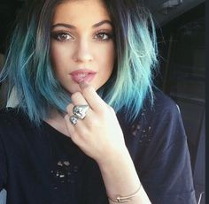 Hair Goals: Kylie Jenner's pastel blue hair and choppy short bob haircut