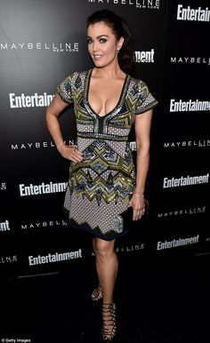Gorgeous: Bellamy Young showed off some serious cleavage...